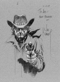 Joe Kubert Never Dies Comic Book Artists, Comic Artist, Comic Books Art, Western Comics, Western Art, Character Illustration, Illustration Art, Drawing Sketches, Art Drawings