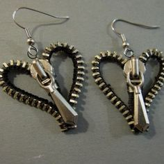 These are awesome except I'm not real into hearts. But I love the zipper idea Tutorials | JewelryLessons.com