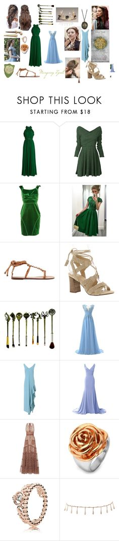"""Margaery Tyrell - Game of Thrones"" by jillianjaycie ❤ liked on Polyvore featuring Elie Saab, Zac Posen, WithChic, Zimmermann, Very Volatile, Carla G., LUISA BECCARIA, West Coast Jewelry, Pandora and Luv Aj"