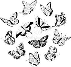 """Résultat de recherche d'images pour """"butterfly illustration black and white"""""""
