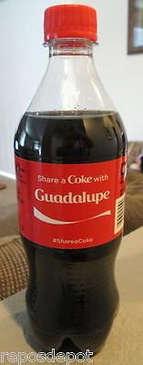GUADALUPE-SHARE-A-COKE-WITH-COCA-COLA-NAME-PROMOTION-COLLECTIBLE-2015-20-oz-NEW