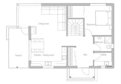 Small House Plan CH42. Floor Plan from ConceptHome.com Floorplans, Small House
