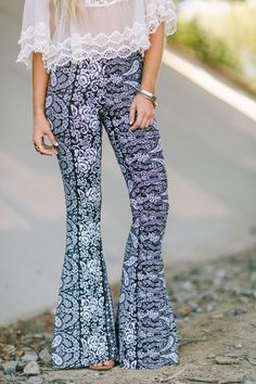 Paisley Floral Flared Pants by Three Bird Nest | Women's Boho Clothing Boutique