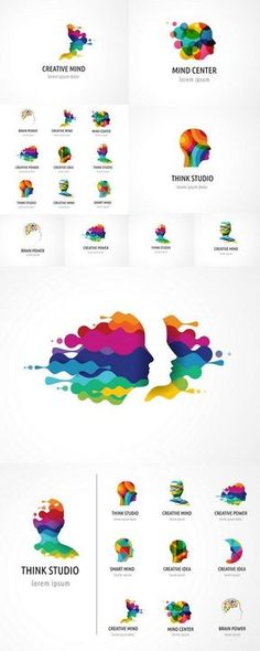 Icon design Inspiration Creative, Brain, Creative Mind, Learning and Design Icons Icon Tag Design, Icon Design, Cover Design, Graphic Design Inspiration, Typography Logo, Logo Branding, Illustration Tutorial, Logos Online, Logo Luxury