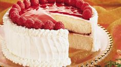 Relish this delicious raspberry cake that's great to look at and even better to eat – a delightful dessert!