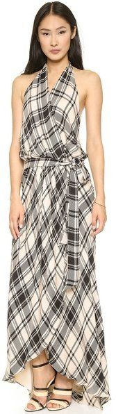 Pin for Later: The Grown Woman's Guide to Mastering Plaid Haute Hippie Plaid Halter Gown Haute Hippie crossover plaid halter gown (£494.39)