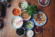 tofuwrap med srirachamajonnäs, picklade grönsaker och koriander (tofu)