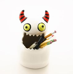 Monster pot monster art and collectibles ceramic by LennyMud