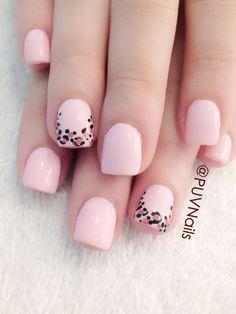 Pink gel w leopard