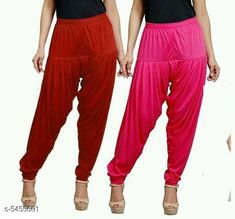 Checkout this latest Patialas Product Name: *Fabulous Women's Patiala Pants Combo (Pack Of 2)* Fabric: Cotton Viscose  Waist Size: XL - 34 in XXL - 36 in  Length: Up To 40 in Type: Stitched Description: It Has 2 Pieces Of Women's Patiala Pants Pattern: Solid Country of Origin: India Easy Returns Available In Case Of Any Issue   Catalog Rating: ★4 (1170)  Catalog Name: Sana Fabulous Women's Patiala Pants Combo Vol 8 With CatalogID_813672 C74-SC1018 Code: 853-5455601-168