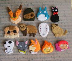 Ghibli by on DeviantArt Totoro, Diy Crafts For Boyfriend, Craft Projects, Sewing Projects, Anime Crafts, Felt Crafts Patterns, Cute Pins, Felt Diy, Felt Ornaments