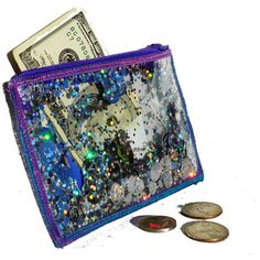 Holographic Glitter Coin Purse Wallet, Business Card Holder in Galaxy (69 BRL) ❤ liked on Polyvore featuring bags, wallets, fillers, accessories, money, zip coin purse, glitter wallet, coin purse, zipper coin pouch and holographic wallet