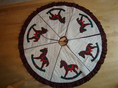 Christmas tree skirt - vintage - REDUCED 50% by carmenjass on Etsy