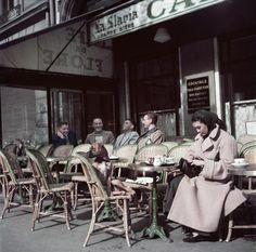 52cupsaday:  Robert Capa, Café de Flore, Saint-Germain-des-Prés, Paris, 1952