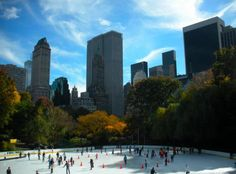 Beautiful... Ice skating in the fall in New York City