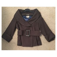 Tulle Gray Jacket Belted jacket with shawl collar. Perfect condition. Very flattering and stylish! Tulle Jackets & Coats Pea Coats