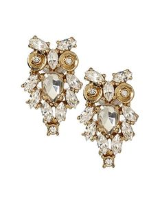 Kate Spade New York Give A Hoot Stud Earring | Piperlime