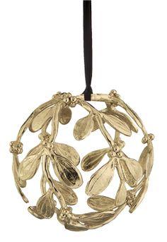 Misletoe globe ornament