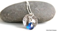 Simple sterling silver necklace sterling by HollyMackDesigns, $62.00