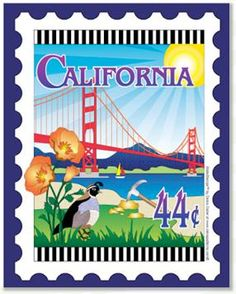 California stamp quilt