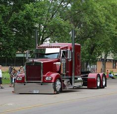 Kenworth custom W900L! Wine red whopper!