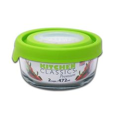 Kitchen Classics Glass Food Container 2 Cup Rnd True Seal