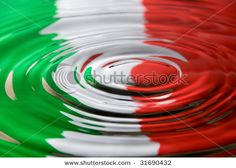 Photo about A water droplet ripples against the Italian flag colours. Image of fresh, abstract, national - 9696129