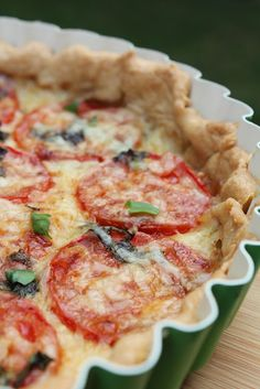 Tomato Basil Tart with a Whole Wheat Pie Crust