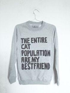 Catsparella: Not Your Granny's Cat Sweatshirt