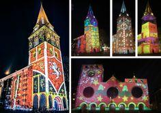 Prachtige lichtprojecties op de Oude Markt, met als topper het Twentse Ros - december 2013