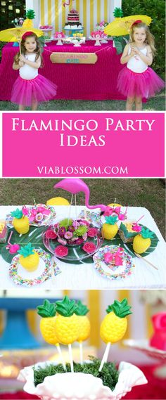 Flamingo Party Ideas for a fabulous Flamingo birthday party or a stylish summer party!