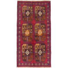 eCarpetGallery Baluch /Red Hand-knotted Area Rug