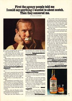 1973 Teachers Whisky Advertisement with Tommy Smothers Playboy February 1973 | by SenseiAlan