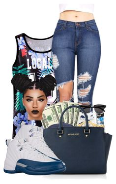 """frenchblue12s"" by ballislife ❤ liked on Polyvore featuring Michael Kors"