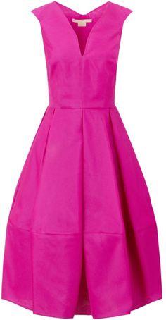 Antonio Berardi Fuchsia Silk Full Skirt #Dress