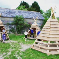 #pallets  and #reclaimed #wood #teepee