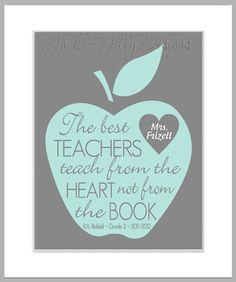 TEACHER+GIFT++The+Best+Teachers+teach+from+by+JackandJillyDesigns,+$14.00
