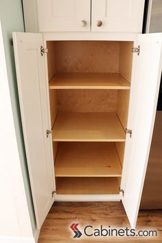... Kitchen Resource Direct. Shaker II Maple Bright White Pantry Utility  Cabinet (4 Butt Door). #pantry