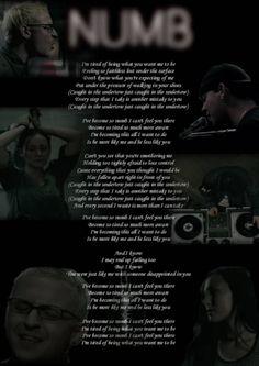 Linkin Park Numb lyrics sooooooooooooooo true and touching Great Song Lyrics, Song Lyric Quotes, Music Lyrics, Music Quotes, Music Songs, Music Stuff, Numb Song, Numb Lyrics, Chester Bennington Quotes