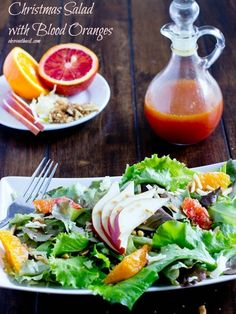 5909692bca8068 Christmas Salad With Blood Oranges, almonds and guyere   37 Colorful And  Healthy Winter Salads