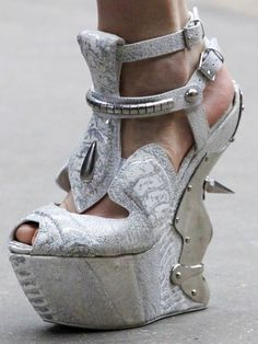 Unique Alexander McQueen White Shoes I'm not sure what to say about these.. McQueen Amazing!!