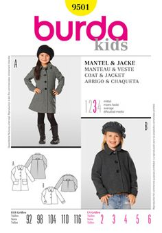 Burda 9501 coat pattern.  This is a lovely pattern to make.