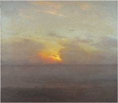 "Gillian Pederson-Krag, Seascape, Oil on Canvas, 16"" x 18"", 1983"