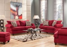 Shop for a Brookhaven Crimson 7 Pc Living Room at Rooms To Go. Find Living Room Sets that will look great in your home and complement the rest of your furniture.