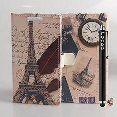 Locaa(TM) Samsung Galaxy Express 2 G3815 PU nuevo case + stylus + enchufe del polvo - Alto grado hermoso la Retro Inglaterra billetera la tarjeta crédito funda protectora PU [Foto Serie] - Eiffel Reloj, http://www.amazon.es/dp/B00SOMDCC4/ref=cm_sw_r_pi_awdl_Pk6WwbDY1KBYW