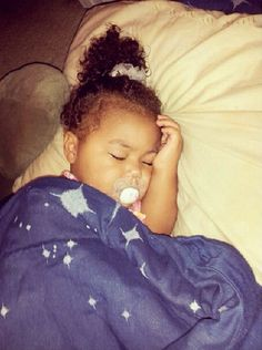Beautiful baby girl sleeping like an angel