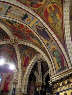 The Castle of Coch, Cardiff, interior & architectural details. Chapel. Designed by William Burges