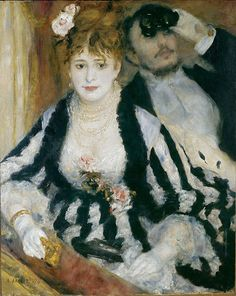 Auguste Renoir (French, 1841–1919)  The Loge, 1874 - Impressionism, Fashion, and Modernity - Metropolitan Museum of Art