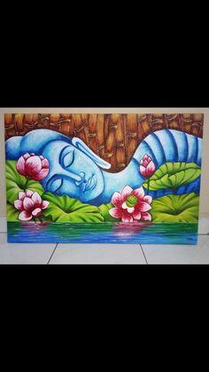 Oil Pastel Drawings Easy, Oil Pastel Art, Oil Pastels, Buddha Drawing, Mandala Drawing, Mandala Art, Budha Painting, Moon Painting, Pichwai Paintings
