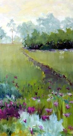 Off the Path at Harbor Shores: Leslie Dyas: Oil Painting Watercolor Landscape, Landscape Art, Landscape Paintings, Watercolor Paintings, Watercolours, Painting Art, Pastel Art, Love Art, Painting Inspiration